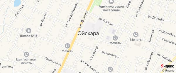 Улица Чехова на карте поселка Ойсхары Чечни с номерами домов