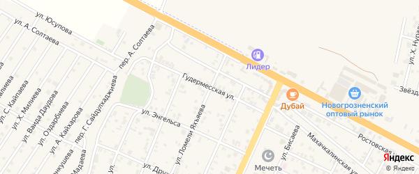 Гудермесская улица на карте поселка Ойсхары с номерами домов