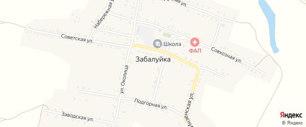 Пионерский переулок на карте села Забалуйки Ульяновской области с номерами домов