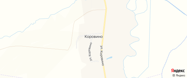 Карта деревни Коровино в Чувашии с улицами и номерами домов