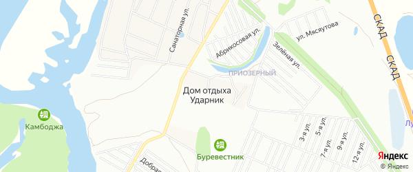 Зона База отдыха Клевое местечко на карте Энгельса с номерами домов
