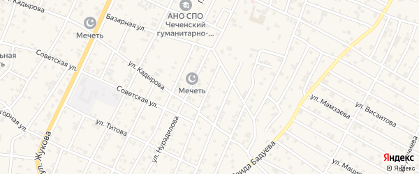 Улица Орджоникидзе на карте поселка Ойсхары Чечни с номерами домов