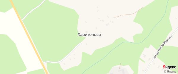 Школьный переулок на карте поселка Харитоново с номерами домов