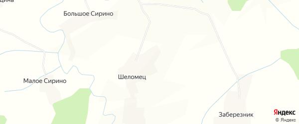 Карта деревни Шеломец в Вологодской области с улицами и номерами домов