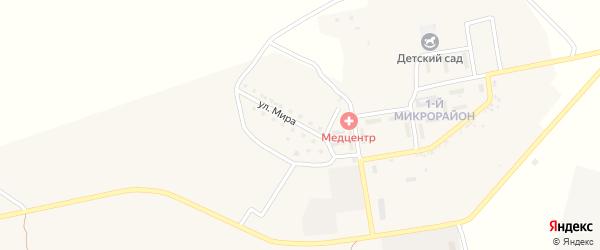 Улица Мира на карте села Успенки Астраханской области с номерами домов