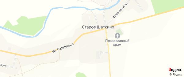 Карта села Старое Шаткино в Пензенской области с улицами и номерами домов