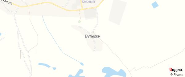 Карта хутора Бутырки в Астраханской области с улицами и номерами домов