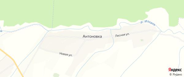 Карта деревни Антоновки в Мордовии с улицами и номерами домов