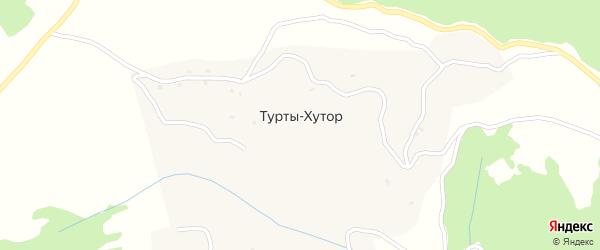 Улица А.А.Кадырова на карте села Турты-Хутор Чечни с номерами домов