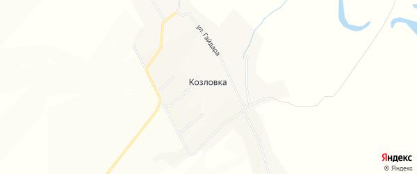 Карта села Козловки в Чувашии с улицами и номерами домов