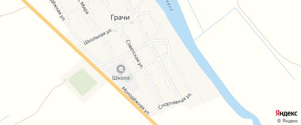 Улица Космонавтов на карте села Грачи Астраханской области с номерами домов