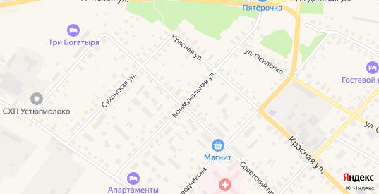 Коммунальная улица в Великом Устюге с номерами домов на карте. Спутник и схема онлайн