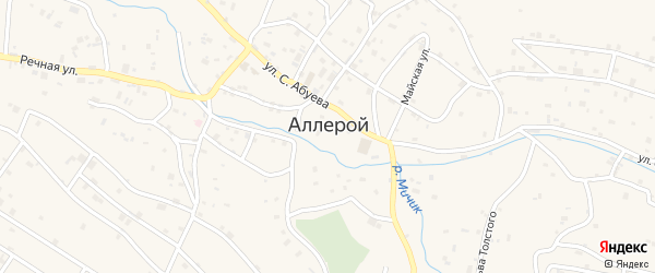 Улица Шисова Аббаза Лемиевича на карте села Аллерой с номерами домов