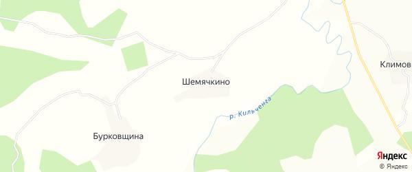Карта деревни Шемячкино в Вологодской области с улицами и номерами домов