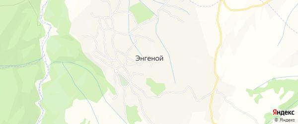 Карта села Энгеной в Чечне с улицами и номерами домов