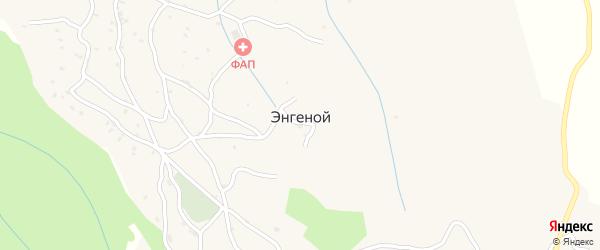 Вайнахская улица на карте села Энгеной Чечни с номерами домов