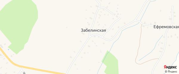 Кооперативный переулок на карте Забелинской деревни с номерами домов