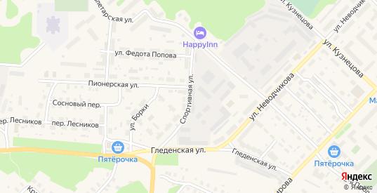 Спортивная улица в Великом Устюге с номерами домов на карте. Спутник и схема онлайн