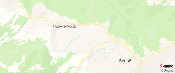 Карта села Гуржи-Мохк в Чечне с улицами и номерами домов