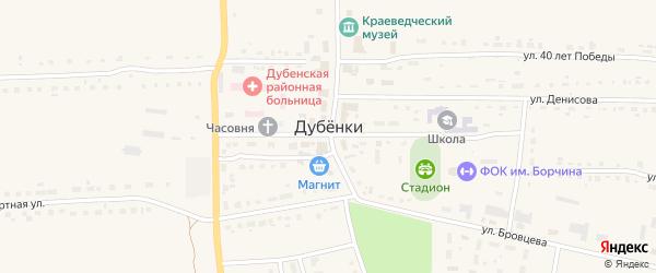 Переулок Денисова на карте села Дубенки Мордовии с номерами домов