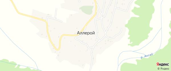 Улица Ю.У.Абубакарова на карте села Аллерого Чечни с номерами домов