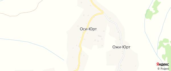 Улица А-Х.Кадырова на карте села Оси-Юрт Чечни с номерами домов