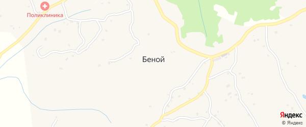 Мостовая улица на карте села Беноя Чечни с номерами домов