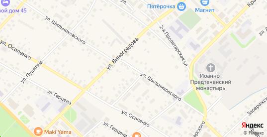 Улица Шильниковского в Великом Устюге с номерами домов на карте. Спутник и схема онлайн