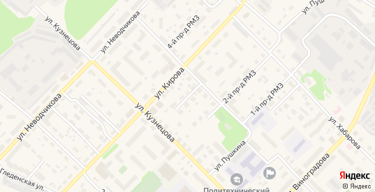 РМЗ 3-й проезд в Великом Устюге с номерами домов на карте. Спутник и схема онлайн