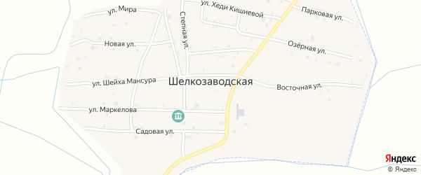 Улица Акбулатова на карте Шелкозаводской станицы с номерами домов