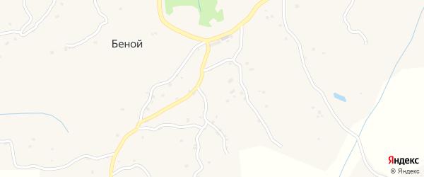 Улица А.С.Делимханова на карте села Беноя Чечни с номерами домов