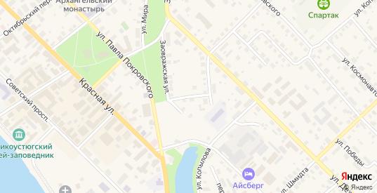 Кузнецкий переулок в Великом Устюге с номерами домов на карте. Спутник и схема онлайн