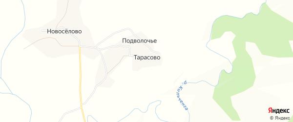 Карта деревни Тарасово в Вологодской области с улицами и номерами домов