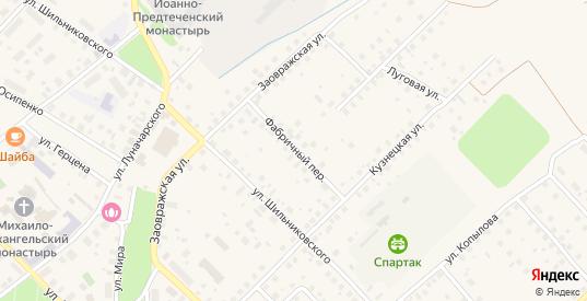 Фабричный переулок в Великом Устюге с номерами домов на карте. Спутник и схема онлайн