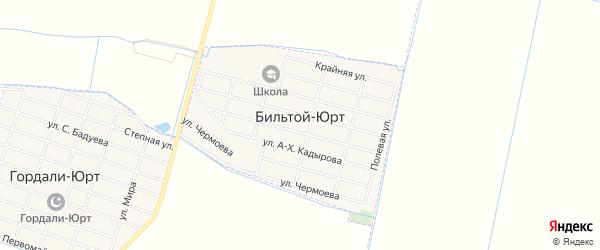 Карта села Бильтой-юрт в Чечне с улицами и номерами домов