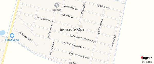 Улица Рашидова на карте села Бильтой-юрт Чечни с номерами домов