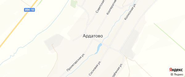 Карта села Ардатово в Мордовии с улицами и номерами домов