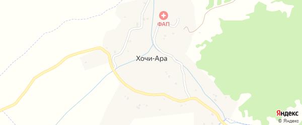 Речная улица на карте села Хочи-Ары Чечни с номерами домов