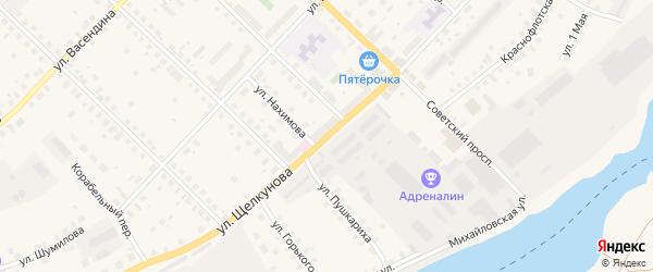 Улица Щелкунова на карте Великого Устюга с номерами домов