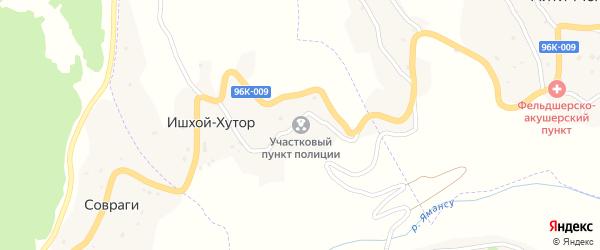 Улица А.А.Кадырова на карте села Совраги Чечни с номерами домов
