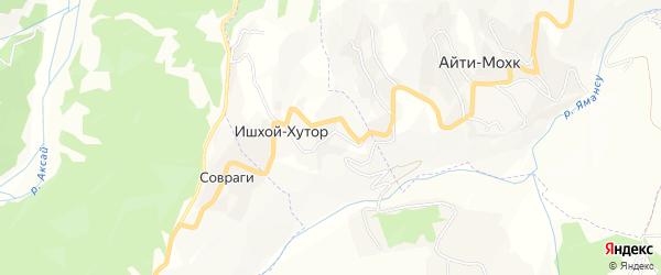 Карта села Совраги в Чечне с улицами и номерами домов