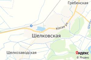 Карта ст. Шелковская Чеченская Республика