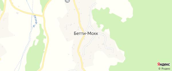 Улица И.А.Сайдуллаева на карте села Бетти-Мохк Чечни с номерами домов