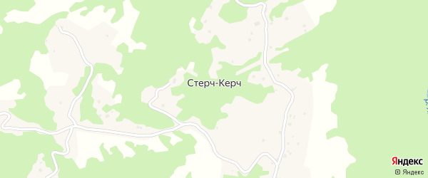 Окраинная улица на карте села Стерча-Керча Чечни с номерами домов