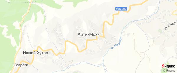 Карта села Айти-Мохк в Чечне с улицами и номерами домов