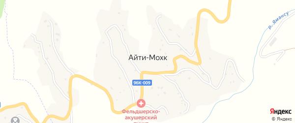 Центральная улица на карте села Айти-Мохк Чечни с номерами домов