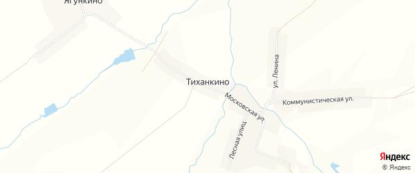 Карта деревни Тиханкино в Чувашии с улицами и номерами домов