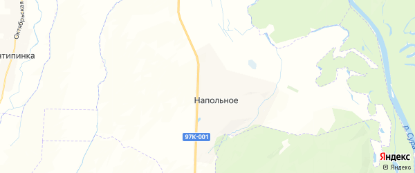 Карта Напольновского сельского поселения Республики Чувашии с районами, улицами и номерами домов