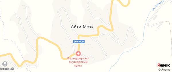 Улица А.Х.Бакланова на карте села Айти-Мохк Чечни с номерами домов