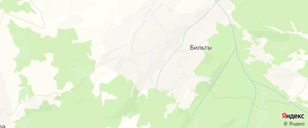 Карта села Бильты в Чечне с улицами и номерами домов